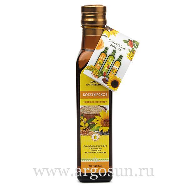 Масло Богатырское, 250 мл, в стеклянной бутылочке